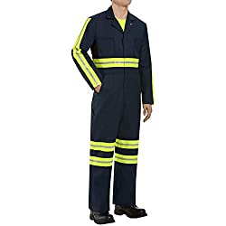 Red Kap Men's Enhanced Visibility Twill Action Back Coverall