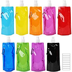 Tomnk 9pcs Collapsible Water Bottle