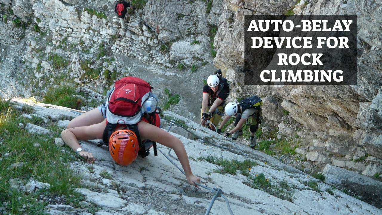 Auto-Belay Device For Rock Climbing