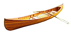 Wooden Canoe with Ribs Curved Bow